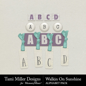 Walkin on sunshine alphabet pack medium