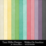 Walkin on Sunshine Solid Papers-$3.99 (Tami Miller)