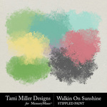 Walkin on Sunshine Stippled Paint-$2.99 (Tami Miller)