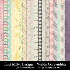 Walkin on sunshine patterned papers medium