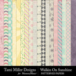 Walkin on sunshine patterned papers small