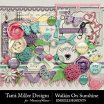 Walkin on Sunshine Embellishments-$3.99 (Tami Miller)