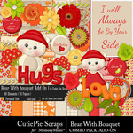 Bear With Bouquet Combo Pack Add On-$4.99 (CutiePie Scraps)