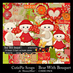 Bear With Bouquet Combo Pack-$6.99 (CutiePie Scraps)