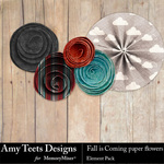 Fall is Coming Paper Flowers Pack-$2.99 (Amy Teets)