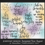 Jumpstart Your August 2017 WordArt Pack-$3.99 (Jumpstart Designs)