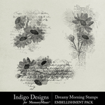 Dreamy Morning Stamp Pack-$2.99 (Indigo Designs)