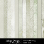 Dreamy Morning Paper Pack-$3.49 (Indigo Designs)