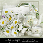 Dreamy Morning Embellishment Pack-$4.99 (Indigo Designs)