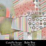 Baby Boy CPS Messy Paper Pack-$4.99 (CutiePie Scraps)