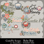 Baby Boy CPS WordArt Pack-$3.49 (CutiePie Scraps)