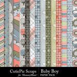 Baby Boy CPS Paper Pack-$4.99 (CutiePie Scraps)