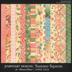 Summer Squeeze Patterned Paper Pack-$3.99 (Jumpstart Designs)