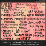 Summer Squeeze WordArt Pack-$3.99 (Jumpstart Designs)