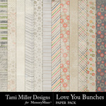 Love You Bunches Paper Pack-$2.99 (Tami Miller)