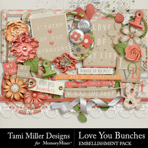 Love you bunches embellishments medium