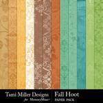 Fall hoot paper pack small