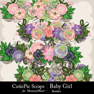 Baby girl borders medium