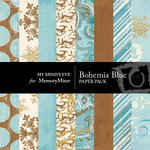 Bohemia Christmas Blue Paper Pack-$3.99 (My Minds Eye)