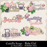 Baby Girl CPS WordArt Pack-$3.49 (CutiePie Scraps)