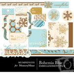 Bohemia Christmas Blue Embellishment Pack-$3.49 (My Minds Eye)