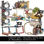 Dead Men Tell No Tales Clusters Pack-$3.99 (Carolyn Kite)