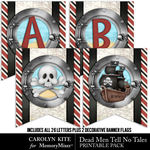 Dead Men Tell No Tales Banners Pack-$4.90 (Carolyn Kite)