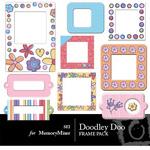 Doodley Doo Girl Frame Pack-$2.00 (s.e.i)