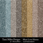 Must love horses glitter sheets small