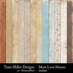 Must Love Horses Paper Pack-$3.99 (Tami Miller)