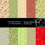 Santas Bake Shop Paper Pack-$3.49 (Tara Reed Designs)
