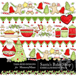 Santas Bake Shop Embellishment Pack-$1.50 (Tara Reed Designs)