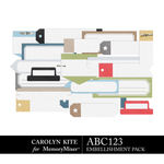 ABC123 Tabs Labels Pack-$2.99 (Carolyn Kite)