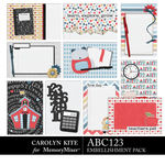 ABC123 Journal Cards Pack 2-$3.99 (Carolyn Kite)