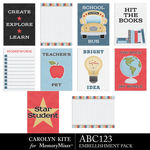 ABC123 Journal Cards Pack 1-$3.99 (Carolyn Kite)
