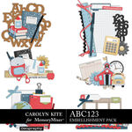ABC123 Clusters Pack-$3.99 (Carolyn Kite)