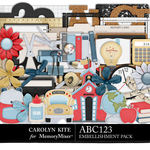ABC123 Embellishment Pack-$4.99 (Carolyn Kite)