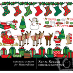 Santa Season Embellishment Pack-$3.49 (Tara Reed Designs)