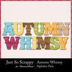Autumn Whimsy Alphabet Pack-$3.49 (Just So Scrappy)