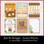 Autumn Whimsy Journal Cards-$1.99 (Just So Scrappy)