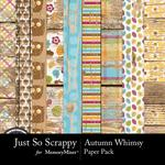Autumn Whimsy Wood Papers-$1.99 (Just So Scrappy)