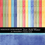 Just Add Water Solid Paper Pack-$2.99 (Laura Burger)
