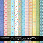Just Add Water Pattern Paper Pack-$3.49 (Laura Burger)