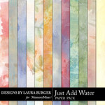 Just Add Water Watercolor Papers-$2.99 (Laura Burger)