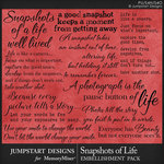 Snapshots of Life WordArt Pack-$3.99 (Jumpstart Designs)