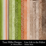 Live Life to the Fullest Paper Pack-$3.99 (Tami Miller)