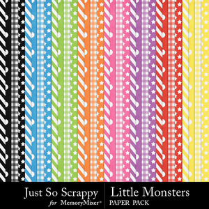 Little monsters pattern papers medium