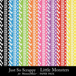 Little monsters pattern papers small