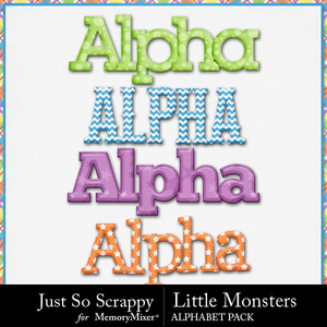Little monsters alphabets medium