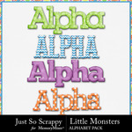 Little Monsters Alphabet Pack-$2.45 (Just So Scrappy)